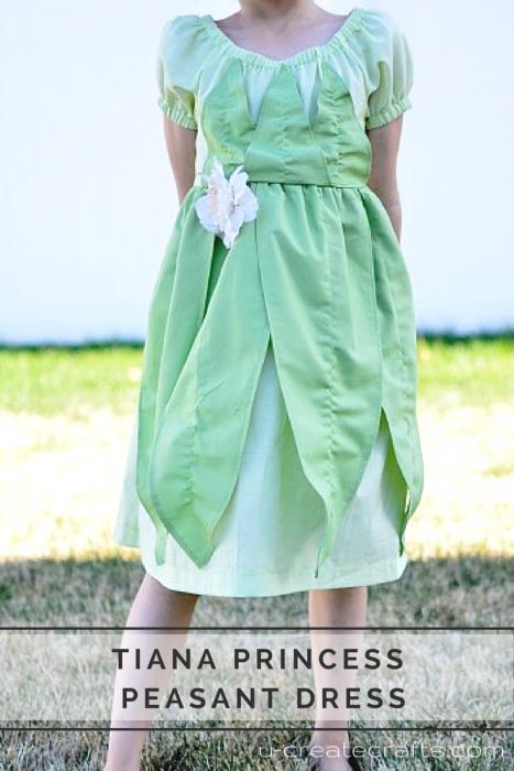 Tiana Princess Peasant Dress at u-createcrafts.com