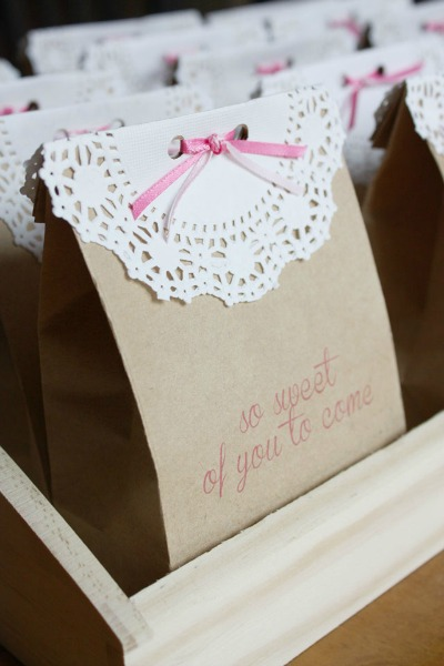 doily gift bags