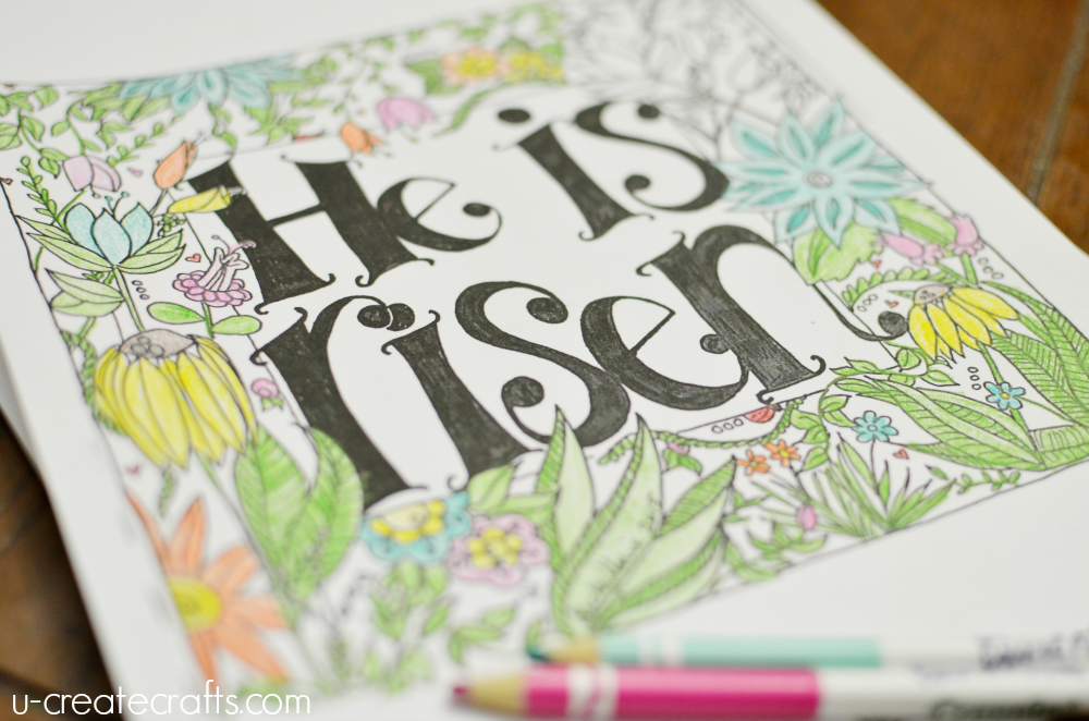 He Is Risen Coloring Page - U Create