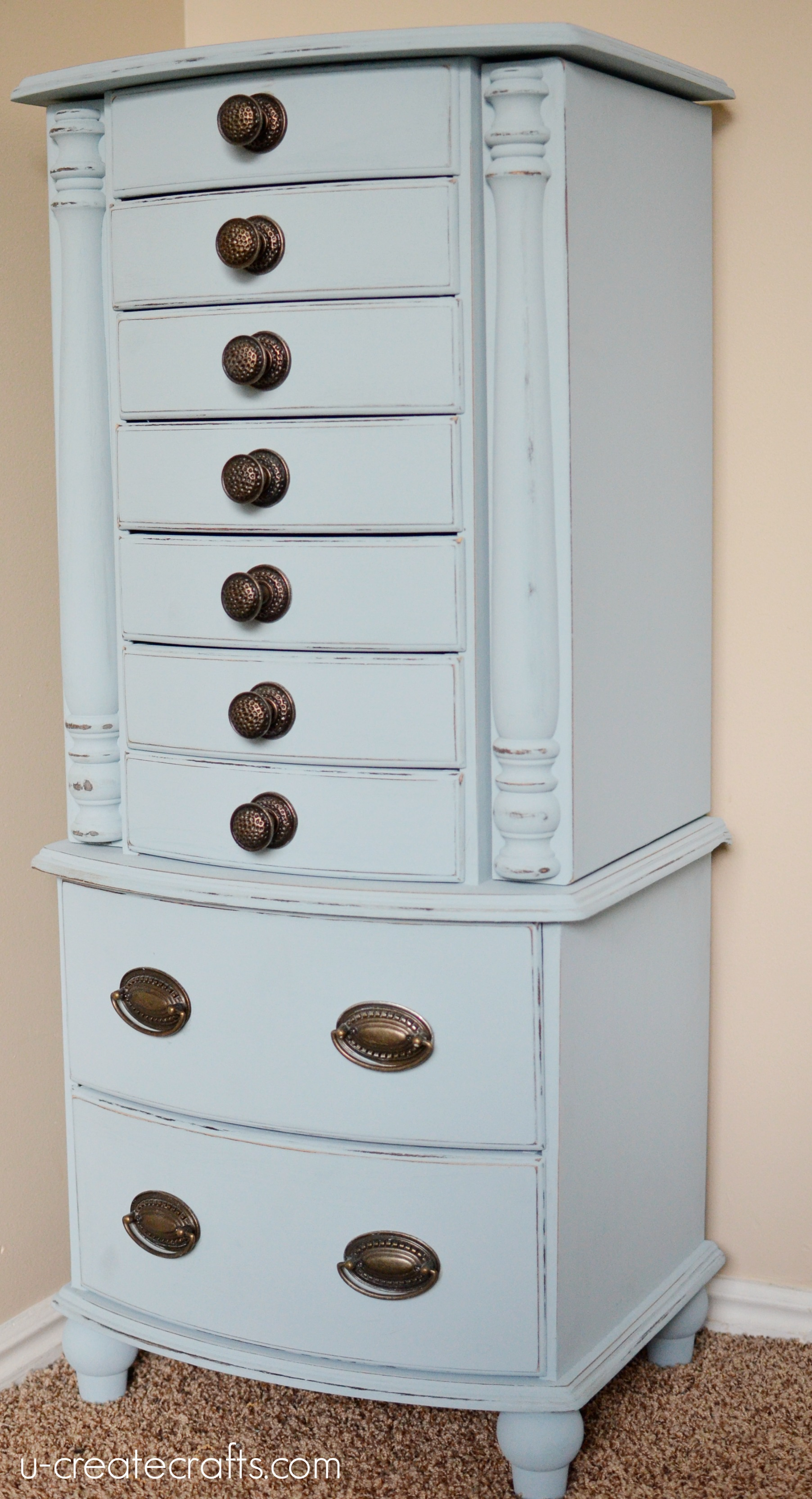 Jewelry Armoire Makeover by U Create