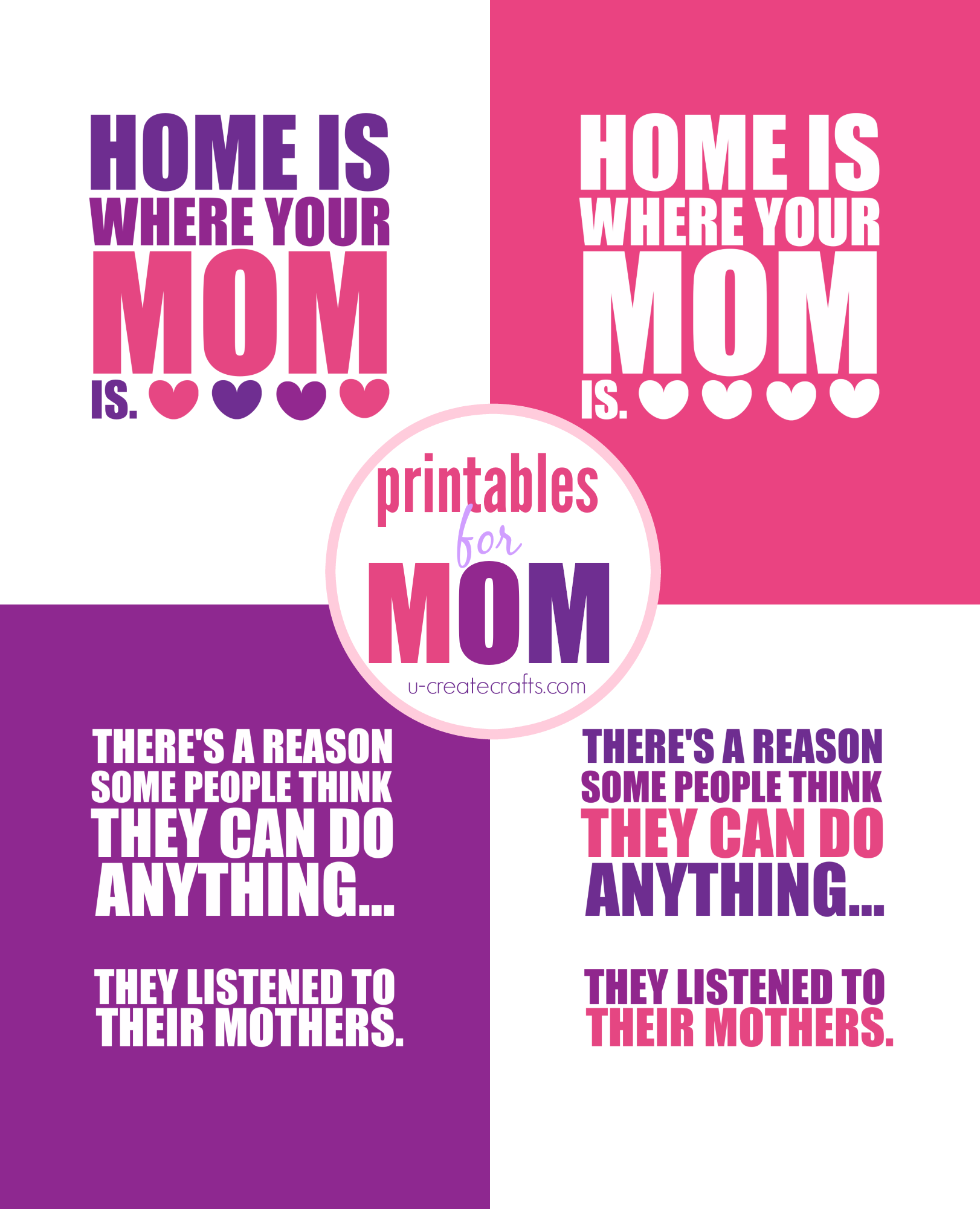 Mother's Day Printable by U Create
