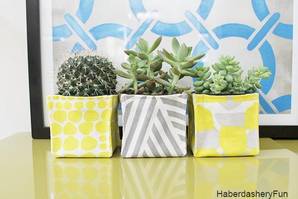Fabric-Bin-Planters