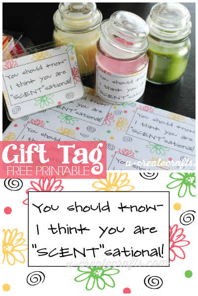 Gift Tag Printable at u-createcrafts.com