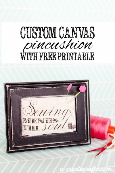 graphic regarding Printable Canvas referred to as Do-it-yourself Canvas Pincushion with free of charge printable - U Produce