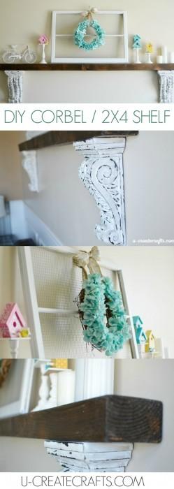 DIY 2x4 Shelf by U Create
