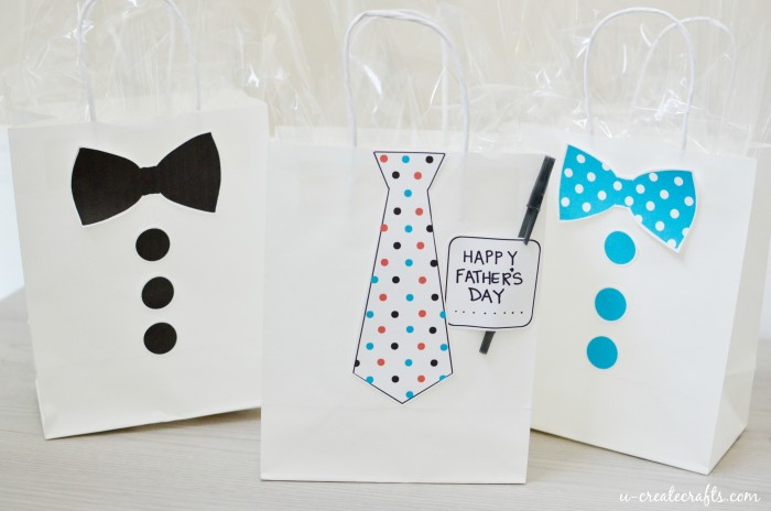 Father's Day Gift Bag Printables by U Create