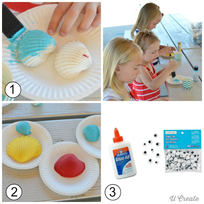 How to Make Sea Shell Creatures - kids craft for the beach/summer!