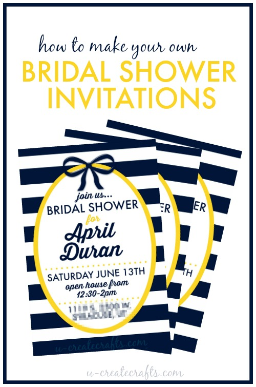 How To Make A Bridal Shower Invitation U Create