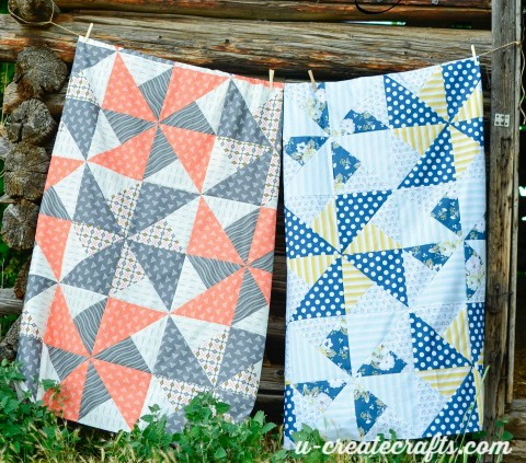 One pattern - two completely different quilts!