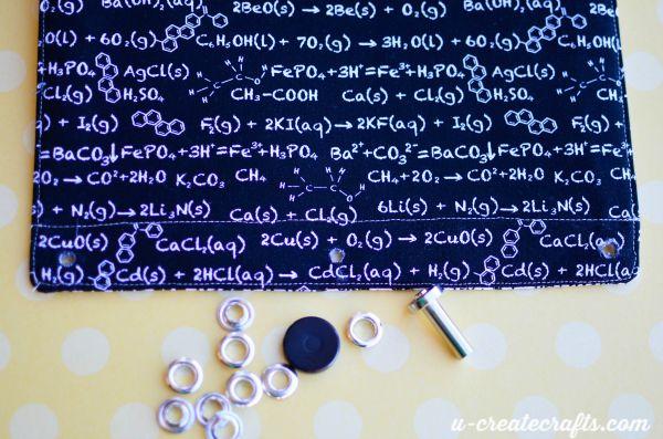 17 Written equations binder pouch