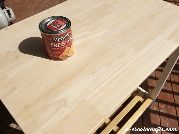 3 Sanded sewing table