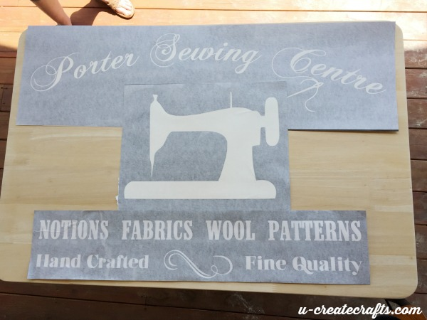 4 vinyl for repurposed sewing table