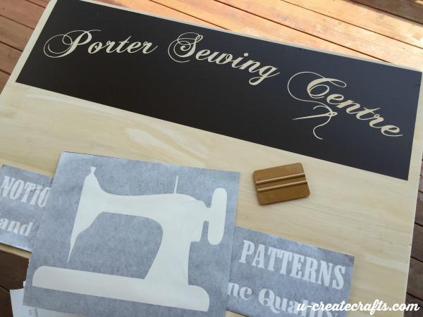 5 Applying vinyl to wood table