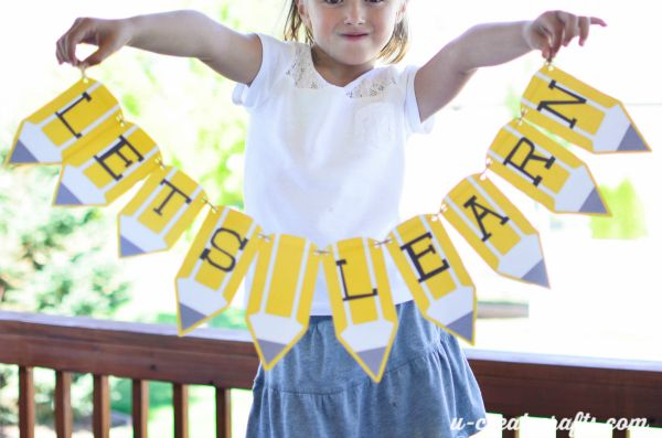 Free Printable Back to School Pencil Banner