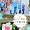 DIY Wooden Block Photo Frame Tutorial