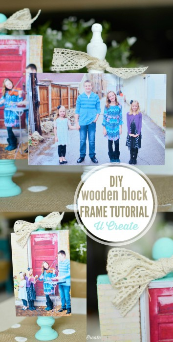 DIY Wooden Block Photo Frame Tutorial