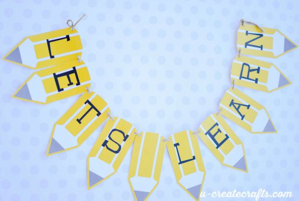 Make a banner with free printable from U Create