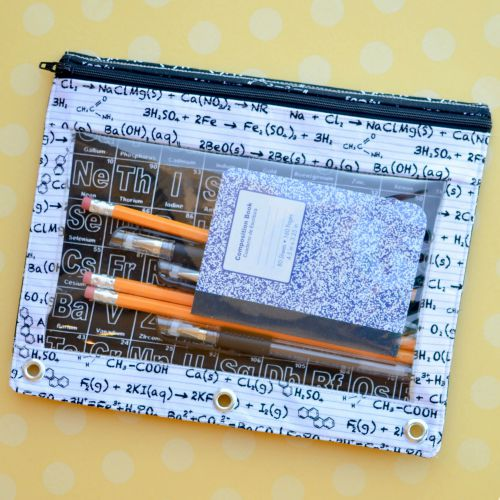 SQUARE Back to School Binder Pouch Tutorial