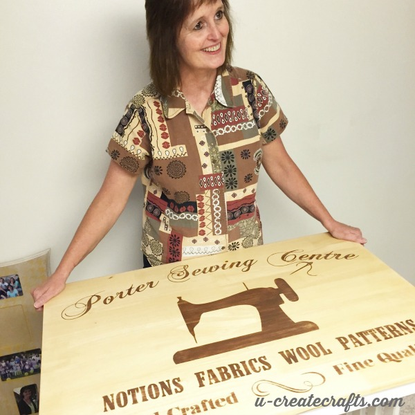 Sewing Table Makeover surprise