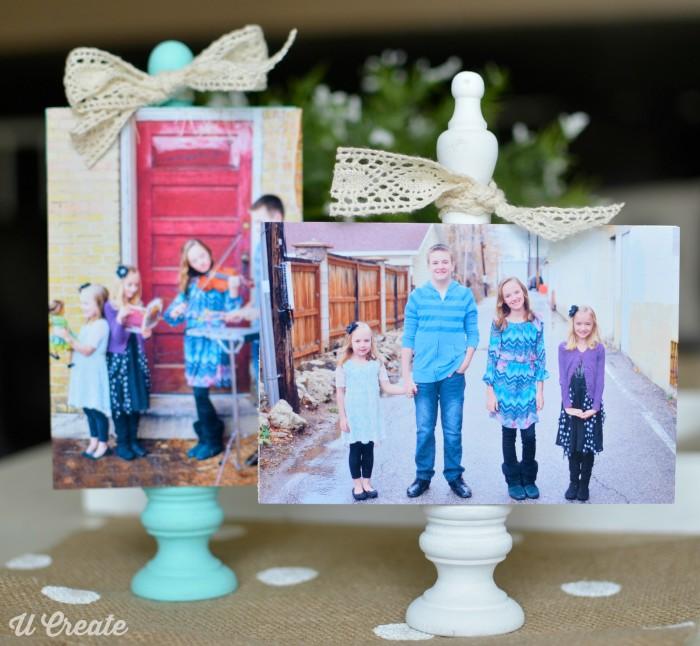 DIY Wooden Block Photo Frame Tutorial by U Create