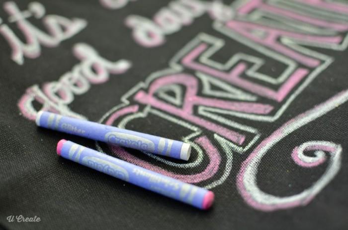 DIY Chalkboard Bag by U Create