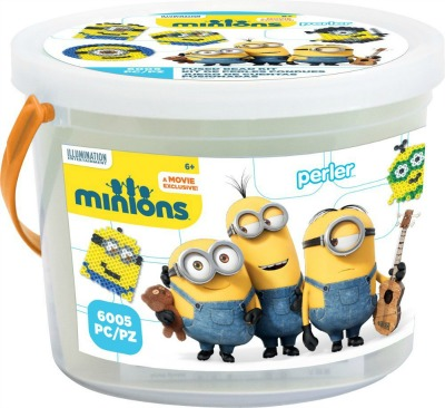Minion Perler Bead Bucket
