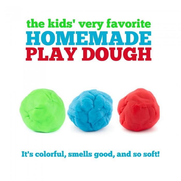 The Kids' Very Favorite Homemade Play Dough Recipe