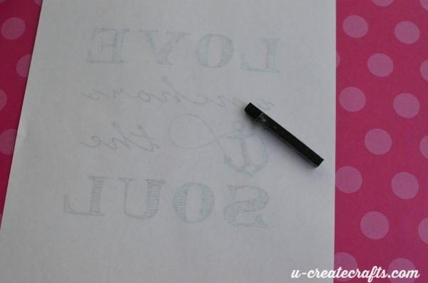 3 transfer image to chalkboard