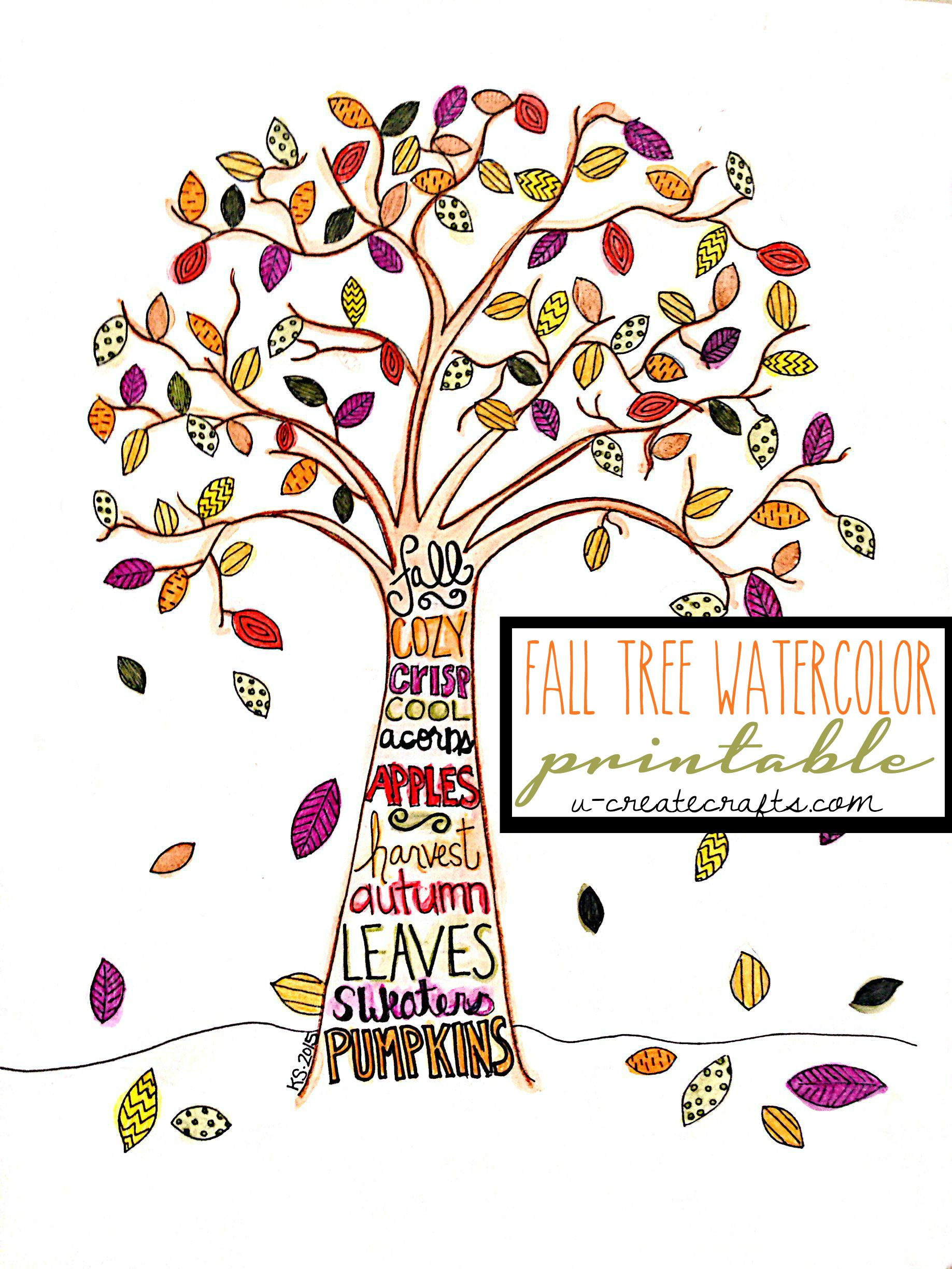 Lively image pertaining to fall tree printable