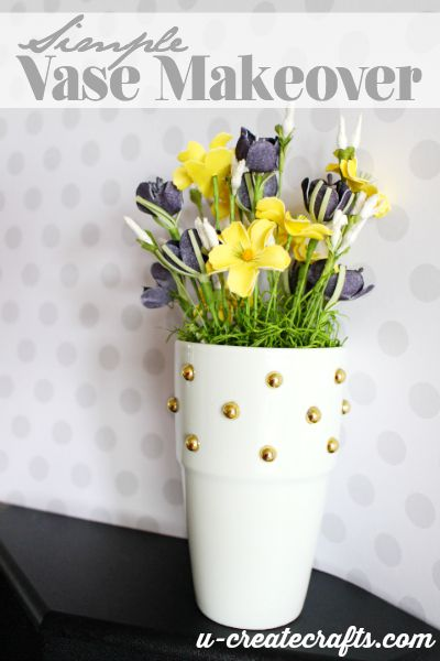 Simple Vase Makeover with u-createcrafts.com