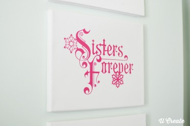 Sisters Forever Frozen Girls Decor