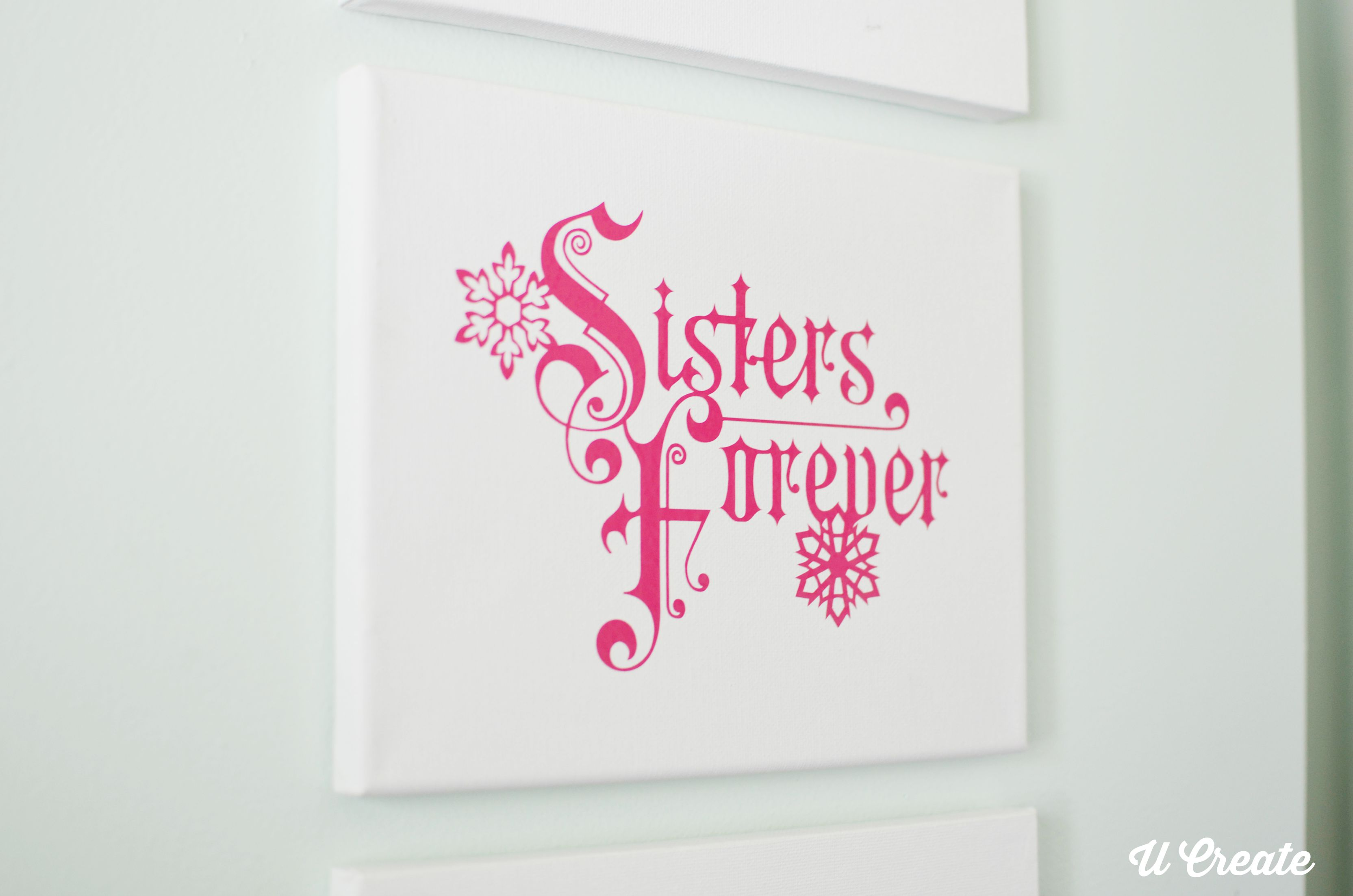Frozen canvases for little girls bedroom u create sisters forever frozen girls decor amipublicfo Choice Image