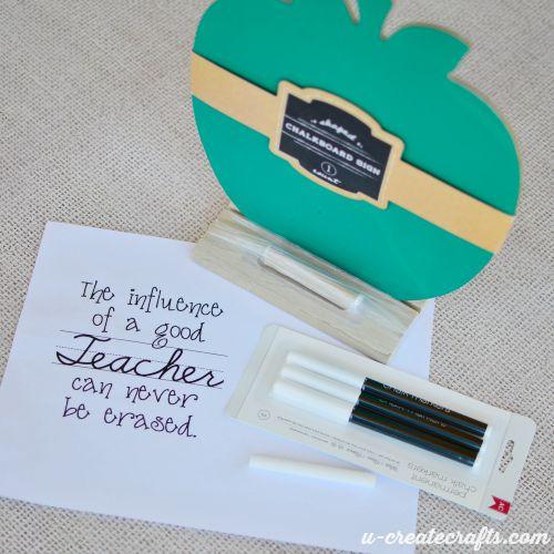 Teacher Appreciation Gift Chalk art