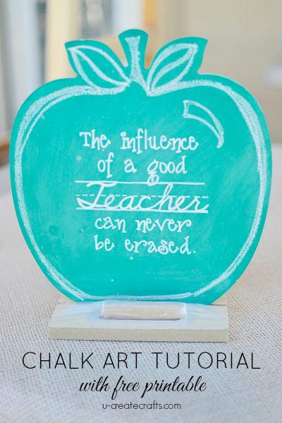 Teacher gift chalk art