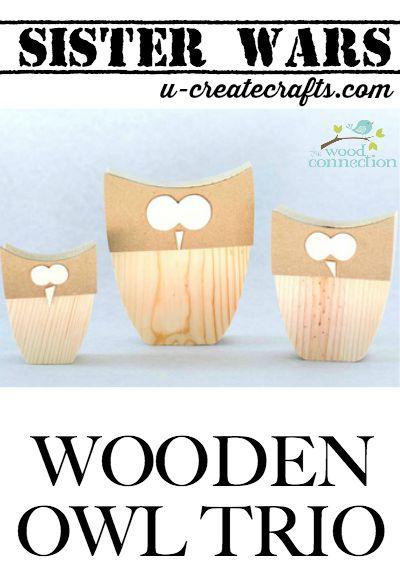 Wooden Owl Sister Wars