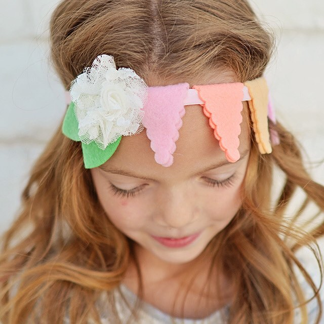Felt Bunting Headband by U Create and Crafternoon