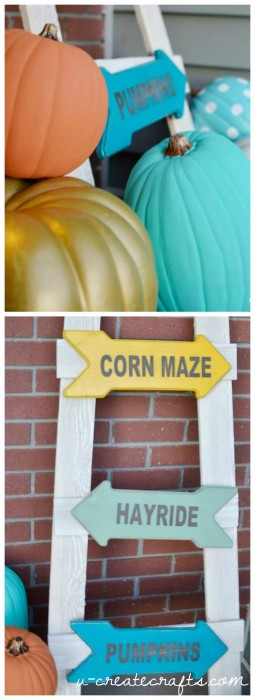 DIY Jumbo Chalk Pumpkins