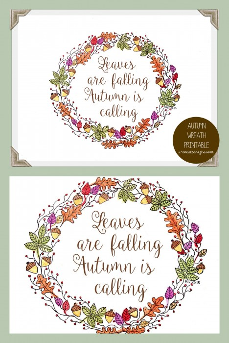 Free Printable Fall Wreath Quote by U Create