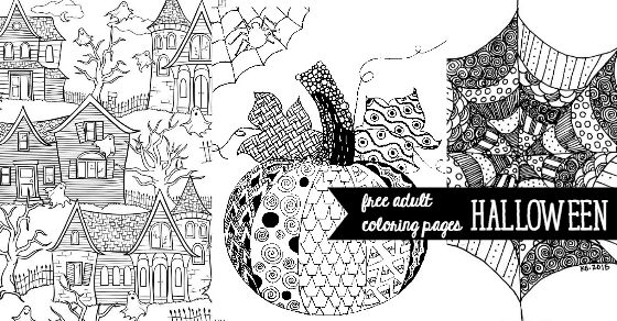 Free Halloween Adult Coloring Pages - U Create