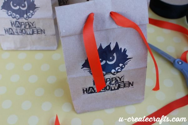 Treat bags with free printable