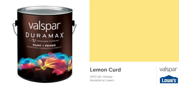 Valspar Duramax Exterior Paint in Lemon Curd