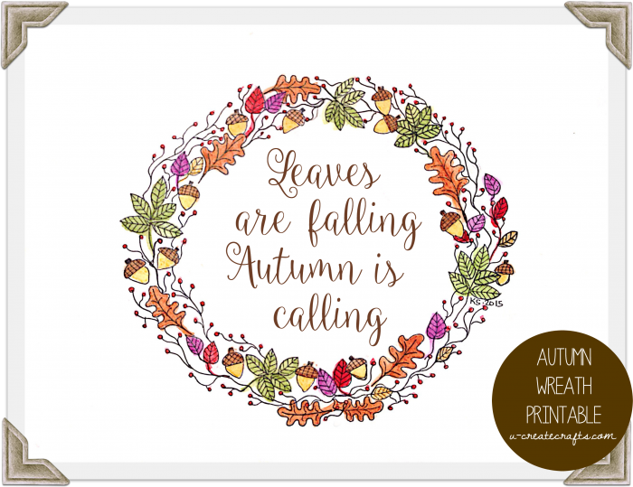 Autumn Wreath Quote Free Printable