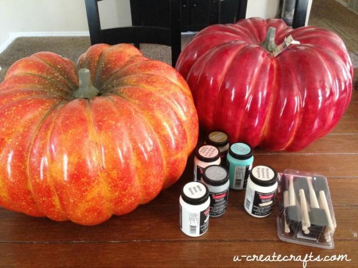 Chalk Paint Pumpkin Tutorial