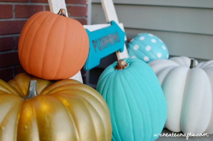 DIY Chalk Paint Pumpkin