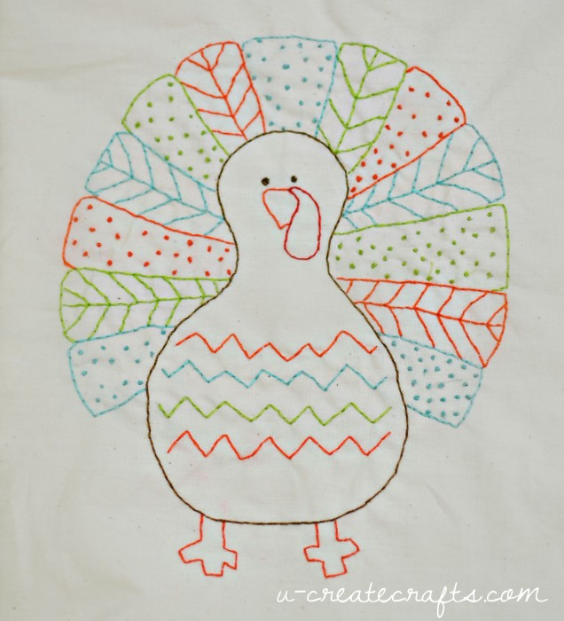Free Stitchable Turkey Pattern