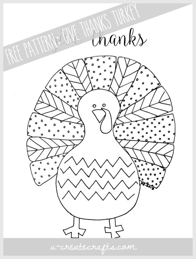 Fall Turkey Printable - U Create