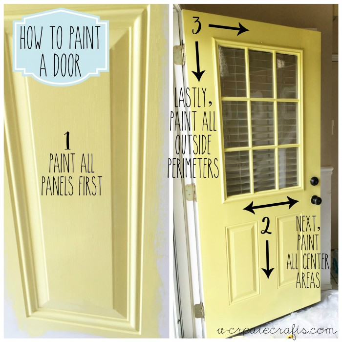 How to Paint a Door by U Create