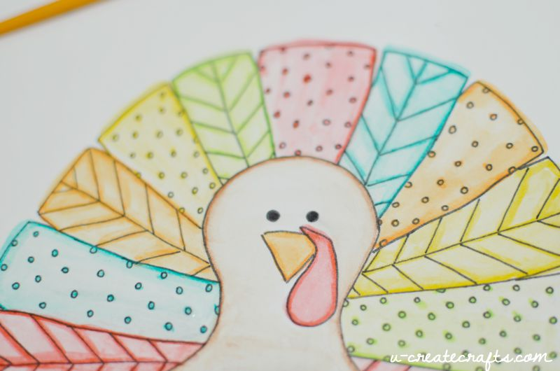 Turkey Coloring Page Printable By U Create