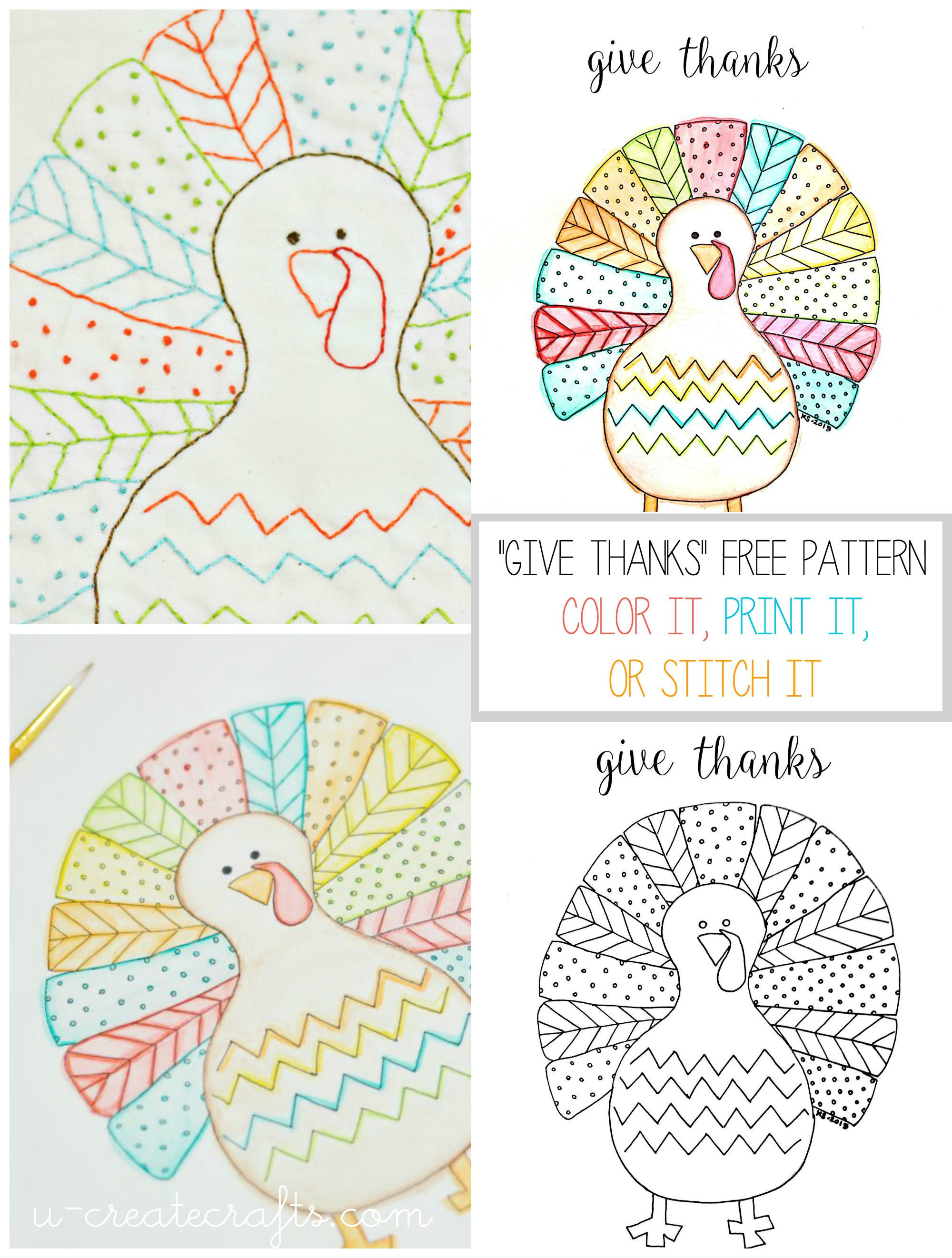 fall turkey printable u create