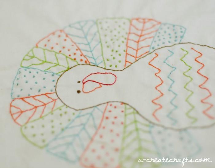 Turkey Free Stitchable Pattern by U Create